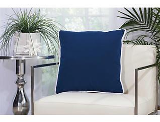 Warren Navy Outdoor Pillow, , large