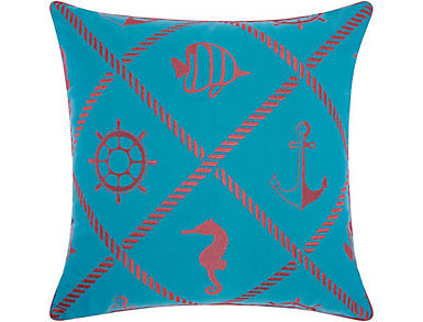 Newport Coral Outdoor Pillow, , large