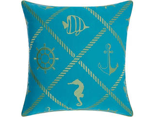 Newport Lime Outdoor Pillow, , large