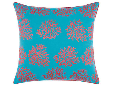 Turquoise Reef Outdoor Pillow, , large