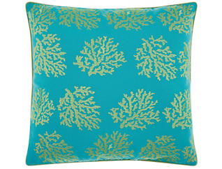 Teal Reef Outdoor Pillow, , large