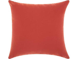 Coral Sunflower Outdoor Pillow, , large