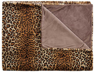 Leopard Faux Fur Throw Blanket, , large