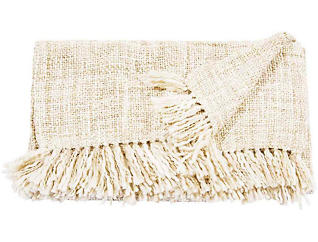 Rosemont Cream Throw Blanket, , large