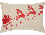 shop Santa's Sleigh 20x14 Pillow