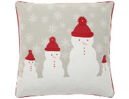 shop Red Snowmen 18x18 Pillow