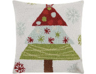 shop Multi Xmas Tree 18x18 Pillow