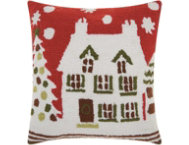 shop Holiday House 18x18 Pillow