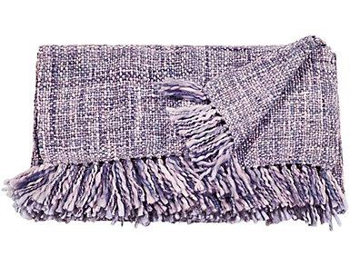 Rosemont Purple Throw Blanket, , large