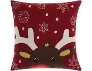 shop Felted Rudolph 18x18 Pillow