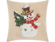 shop Jolly Snowman 18x18 Pillow