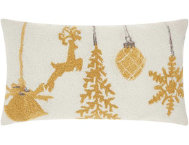 shop Golden Ornaments 24x12 Pillow