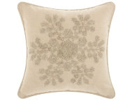 shop Silver Snowflake 12x12 Pillow