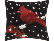shop Snowing Cardinal 18x18 Pillow
