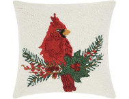 shop Cardinal On Holly 18x18 Pillow