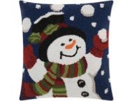 shop Juggling Snowman 18x18 Pillow