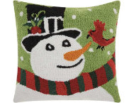 shop Holiday Snowman 18x18 Pillow