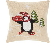 shop Skating Penguin 18x18 Pillow