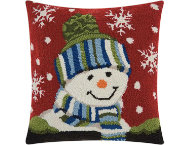 shop Snow Boy 18x18 Pillow