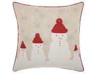 shop Natural Snowmen 18x18 Pillow