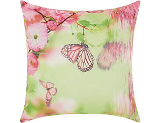 Pink Butterfly Outdoor Pillow, , large