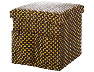 Merrill Faux Hide Yellow Cube, , large
