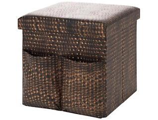 Merrill Faux Hide Bronze Cube, , large