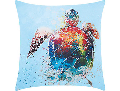 Sea Turtle Outdoor Pillow, , large