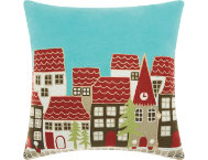 shop Holiday Village 18x18 Pillow