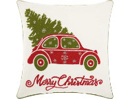 shop Xmas Tree In Car 18x18 Pillow