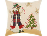 shop Beaded Snowman 18x18 Pillow