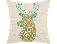 shop Holiday Scroll 18x18 Pillow