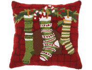 shop Holiday Stockings 18x18 Pillow