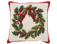 shop Christmas Wreath 18x18 Pillow