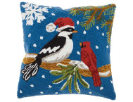 shop Holiday Birds 18x18 Pillow