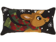 shop Rudolph w/ Scarf 24x12 Pillow