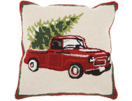 shop Holiday Truck 18x18 Pillow
