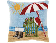 shop Beached Santa 18x18 Pillow