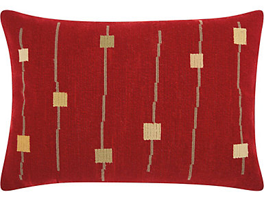 Cambridge Red 20x14 Pillow, , large
