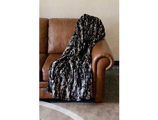 Monroe Faux Fur Throw Blanket, , large