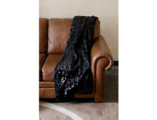 Orono Faux Fur Throw Blanket, , large