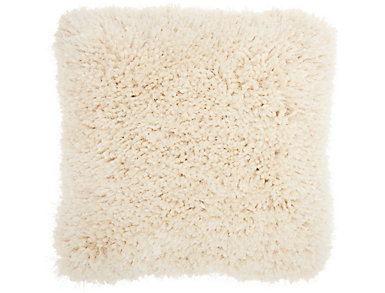 Cream Lush Yarn 20x20 Pillow, , large