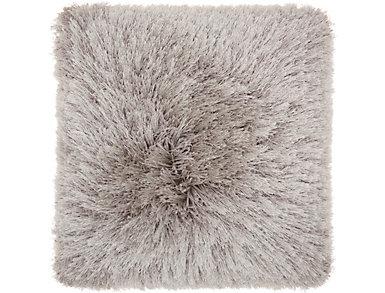 Lt Grey Lush Yarn 20x20 Pillow, , large