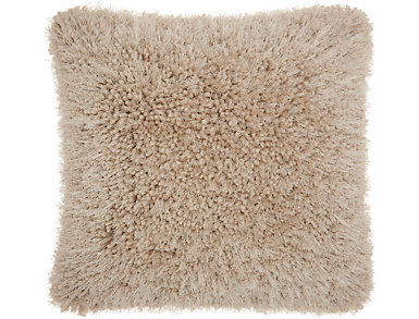Beige Lush Yarn 20x20 Pillow, , large