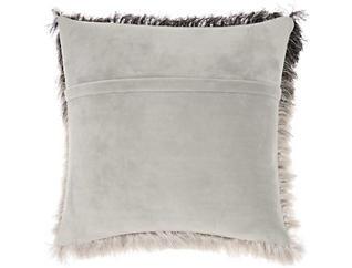 "Illusion Shag Black/Silver 20"" x 20"" Pillow, , large"