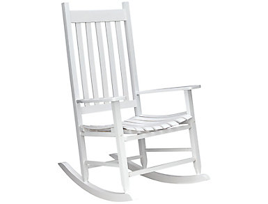 White Rocking Chair | Outlet At Art Van