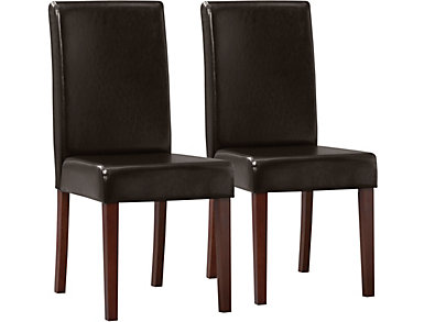 Savanah 2pk Brown Chairs, , large