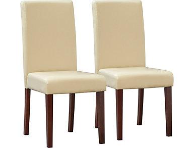 Savanah 2pk Cream Chairs, , large