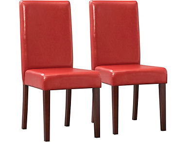 Savanah Red Chair Set of 2, , large