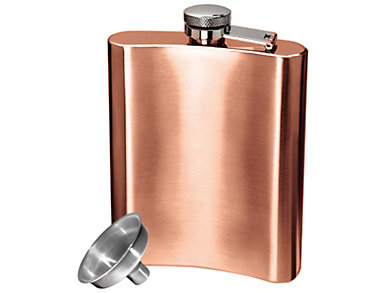 Copper Hip Flask/Filling Tunnl, , large